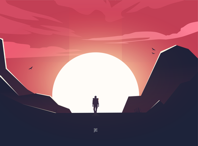 Sunset adventures orange red colors drawing sunsets adventures sunset