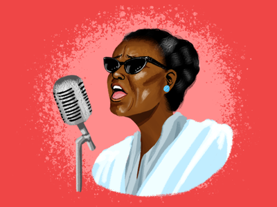 BHM Illustration #4: Ella Baker bhm illustration digital illustration portrait photoshop black history month