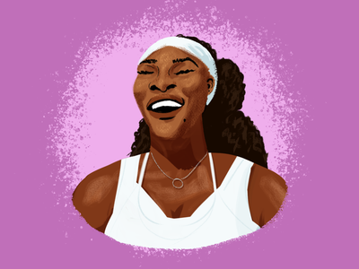 BHM Illustration #6: Serena Jameka Williams portrait digital illustration illustration photoshop bhm black history month