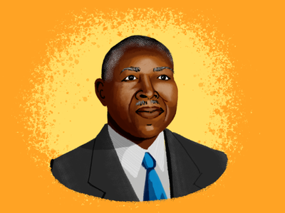 BHM Illustration #7: Robert Abbott illustration portrait digital illustration photoshop bhm black history month