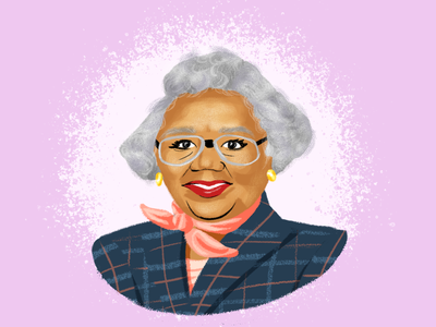 BHM Illustration #8: Queen Miller florida portrait digital illustration illustration photoshop bhm black history month