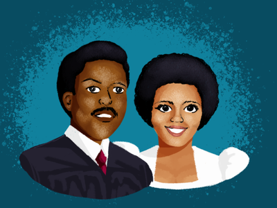 BHM Illustration #9: George & Doretha Edgecomb florida portrait digital illustration illustration photoshop bhm black history month