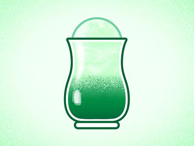 Guinness Float irish drink cocktail digital illustration vector photoshop illustrator illustration