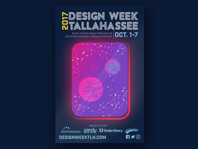 #DWT2017 Poster space texture illustrator event poster tlh tallahassee design week dwt2017 dwt