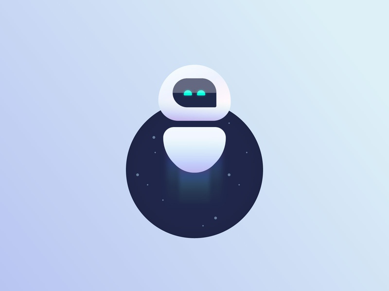 Telli 🤖 mobile app chatbot assistant illustrations illustrator icon flat design branding vector gradient ux ui rocket ai robot character illustration