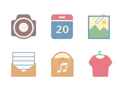 Original camera calendar picture email music theme icon icons aric china