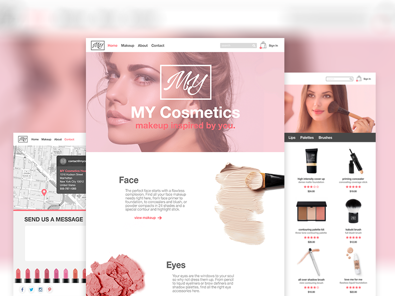 Image result for cosmetics website