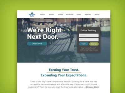 Abington Bank Landing Page
