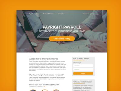 Payright Payroll Landing Page