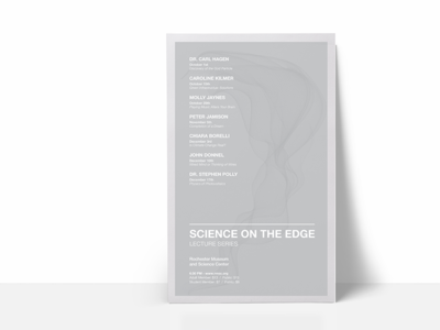 Lecture Series Poster - Minimal Color