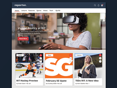 Reporter Redesign | Landing Page