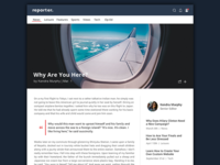Reporter Redesign | Article Page