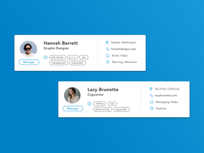 Ripple - Freelancer Profile Card product design launch page website web design startup ripple tech launch freelancing freelancers