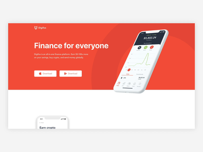 Digifox Landing Page landing page design landing page cryptocurrency crypto wallet crypto marketing site web design ui website