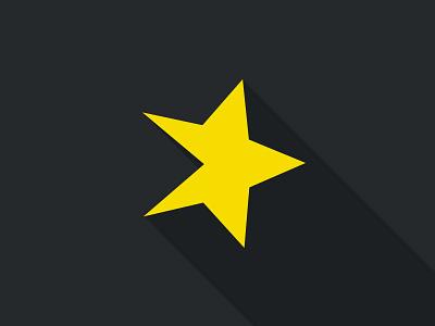 Spreaker Long Shadow shadow logo star app yellow black flat play spreaker long shadow