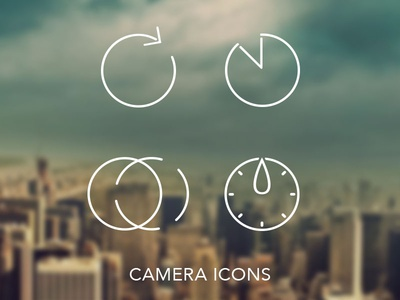 Camera Icon Set ios7 inspired ios7 icons camera timer stopmotion timelapse flat linear monoweight panoramic one line icon set