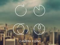 Camera Icon Set ios7 inspired