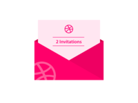 2 invitations for Dribbble