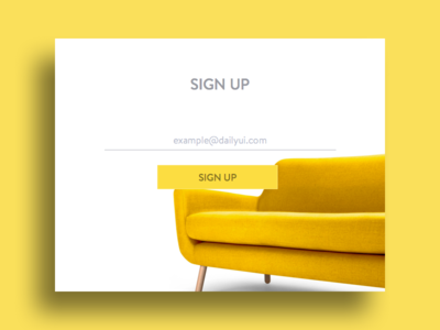 Sign up - DailyUI #001 exercise form pop up modal ui sign up dailyui