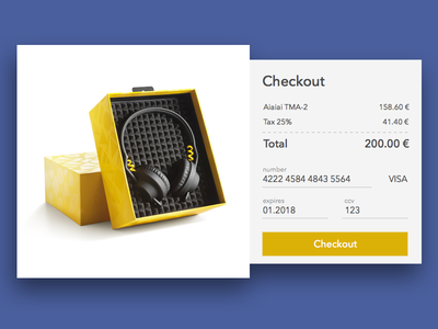 Credit Card Checkout - DailyUI #002 exercise form pop up modal ui checkout dailyui
