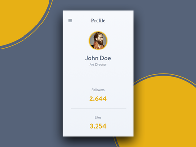 User Profile - DailyUI #006 neat clean minimal mobile user profile profile user dailyui