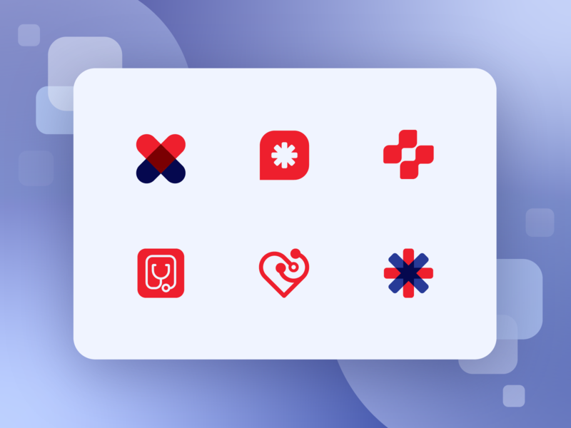 Unused Medical Logomarks icon health design cardiology 911 bandaid doctor marks logo design emergency heart cross identity brand design branding medical logos logo