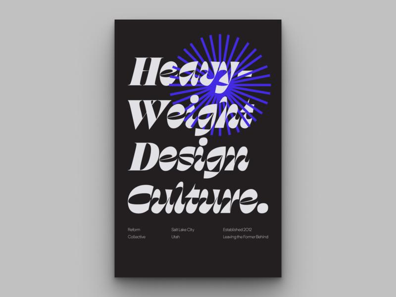 Reform Typographic Poster 2 typographic poster typographic design fonts future culture design collective poster art reform poster mural typography branding logo