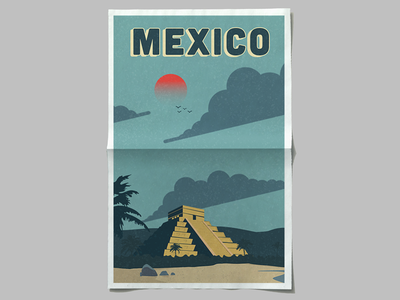 Vintage Mexico Poster