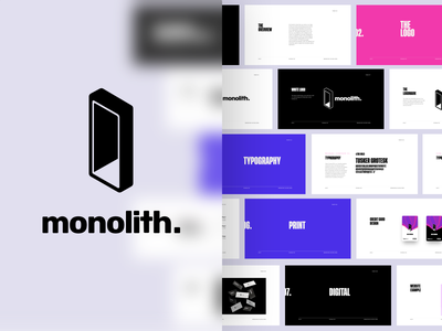 Monolith Logo Design & Branding ethereum token cryptocurrency crypto wallet odessey space portal guidelines branding logo monolith