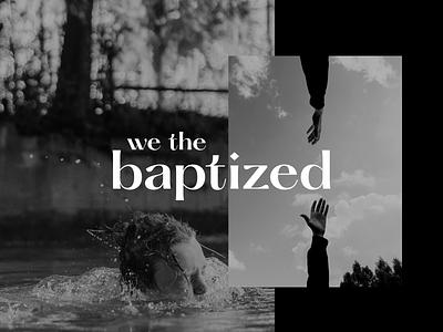 wethebaptized project logo faith love jesus baptism christian christ branding