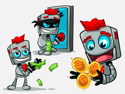 Robot stickers telegram character illustration stickers bot robots robot
