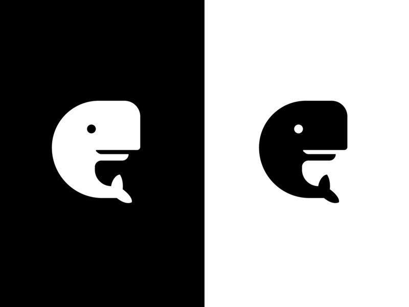 whale monochrom icon
