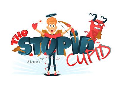 The Stupid Cupid illustration bow character arrow devil love valentine imp cupid