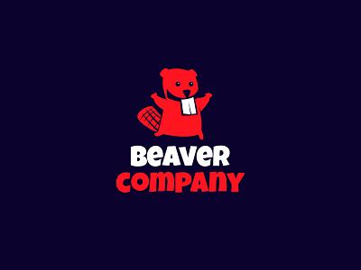 Beaver Company logo symbol icom talisman mascot character business logo company beavers beaver