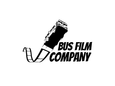 Bus Film company identity brand logotype symbol logo film bus business