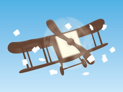 Just Airplane flying airplanes illustration sky paper flyer plane airplane
