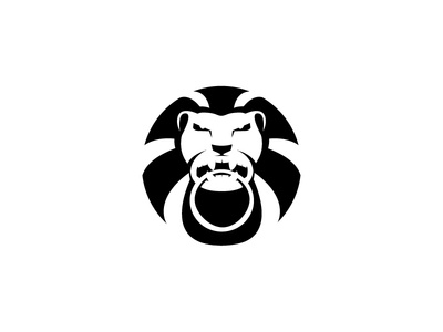 LION HEAD brand monochrome lion logo protection order law head lion