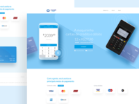 Landing Page for a Payment App.