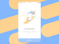 Barcode illustration onboarding