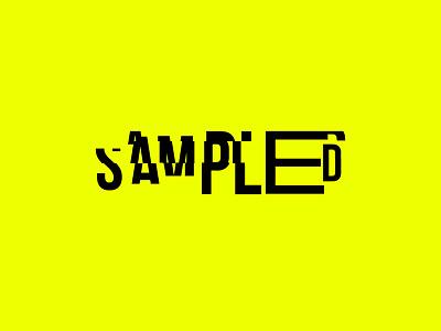 Sampled monogram electronic music bebas neue vaporwave bebas typography logotype logo branding brand