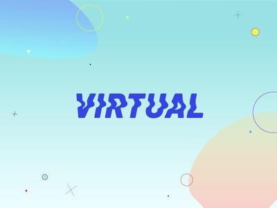 Virtual digital art poster logotype monogram vaporwave branding typeface identity typography