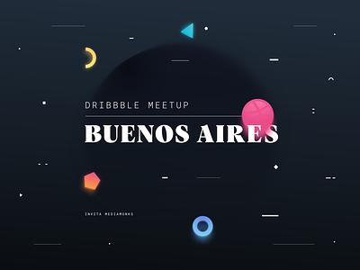 Dribbble Meetup Buenos Aires design app mobile app design system dailyuichallenge interface graphic design 404 page landing page meetup dailychallenge color palette illustration ui invite art direction uidesign dailyui typography