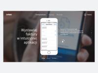 inFakt mobile app - landing page