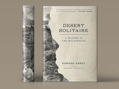 Desert Solitaire Book Jacket Concept illustration jacket design book