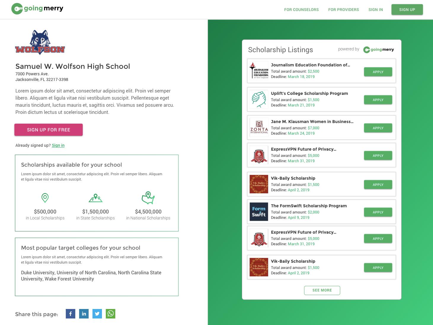 High School Embedded Widget v1 by Chris Karnes | Dribbble