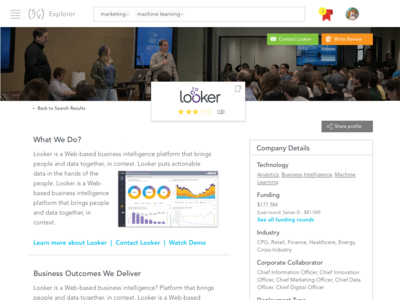 Startup Explorer Mockup (Profile)