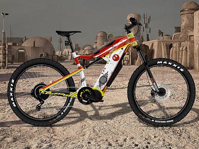 """Star Wars """"Rebel Helmet"""" Themed E-Bike Design ebike vector branding design illustration rpm3d"""