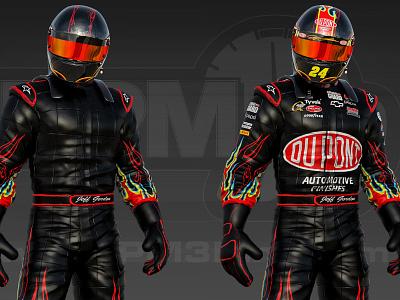 3D Jeff Gordon FireSuit hendrickmotorsports jeffgordon racing nascar3d nascar rpm3d
