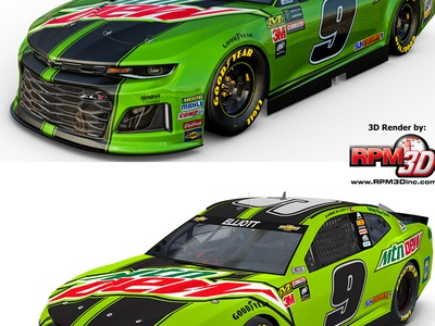 How Does RPM-3D 3D Renders Compare BIG Race Teams? mtndew chaseelliott hendrickmotorsports racing 3d nascar3d nascar rpm3d