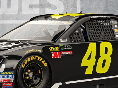 3D Realistic Render of #48 Lowe's Car hendrick motorsports jimmie johnson nascar3d real3d 3drender racing napa nascar rpm3d